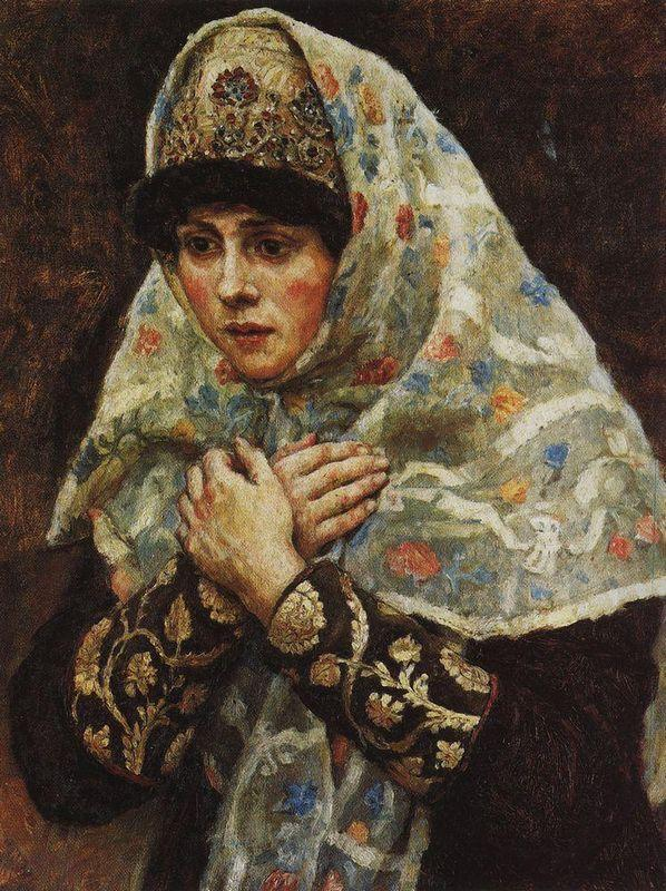 Young lady with his arms folded (Study to