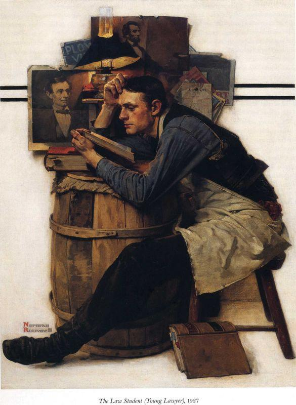 Young Lawyer - Norman Rockwell