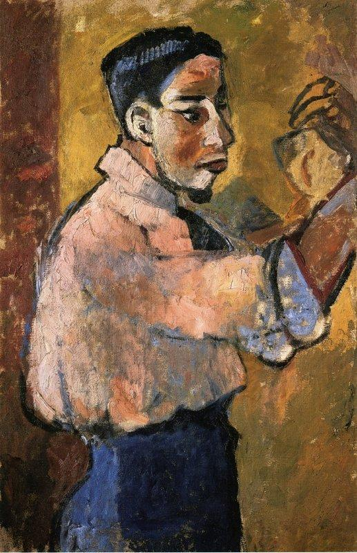 Young Man with a Goatee - Natalia Goncharova