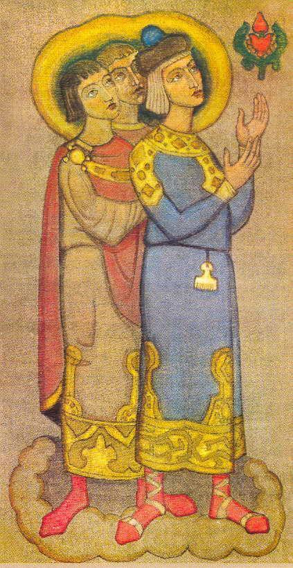Young men, successors - Nicholas Roerich
