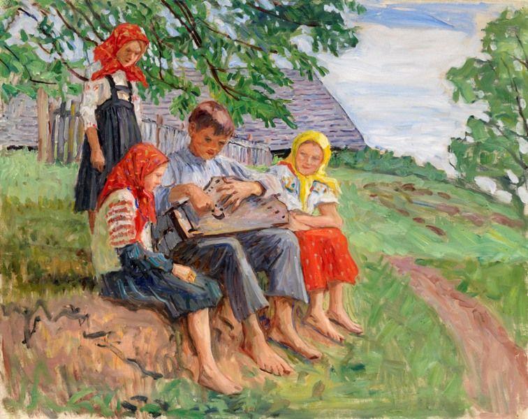 Young Musicians (Young Musician) - Nikolay Bogdanov-Belsky