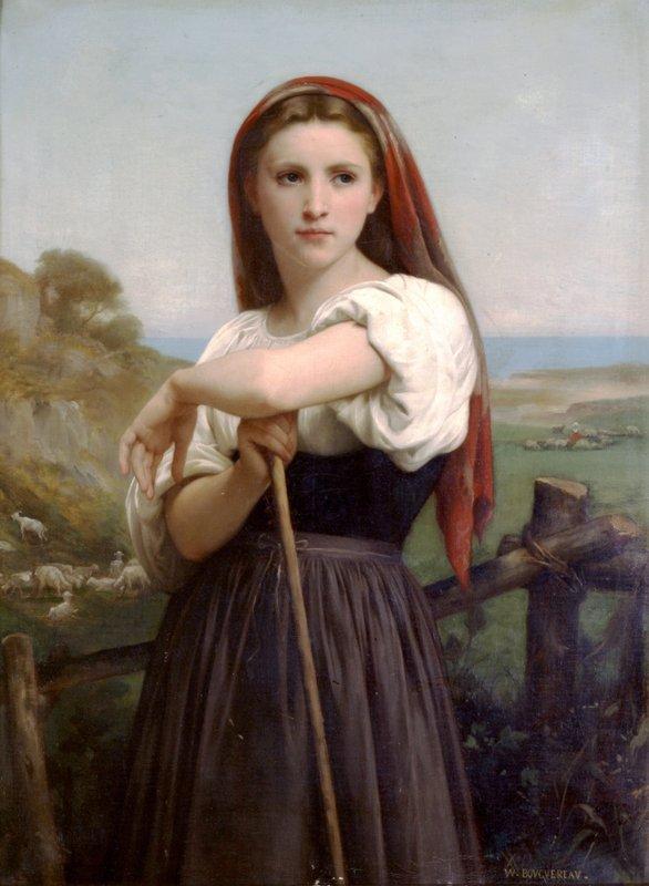 Young Shepherdess - William-Adolphe Bouguereau