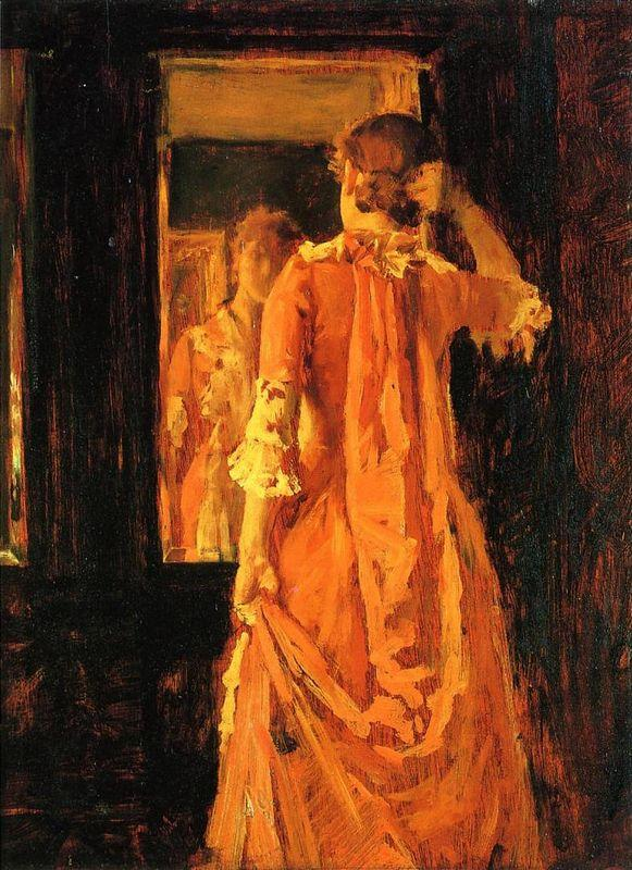 Young Woman Before a Mirror - William Merritt Chase