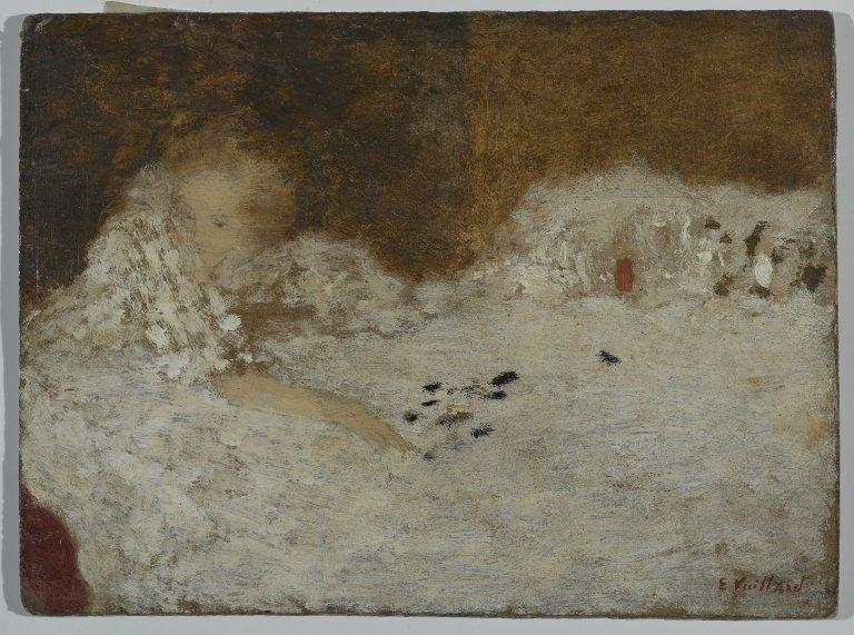 Young Woman in Bed - Edouard Vuillard