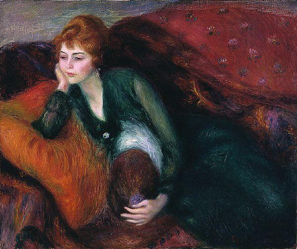 Young Woman in Green  - William James Glackens