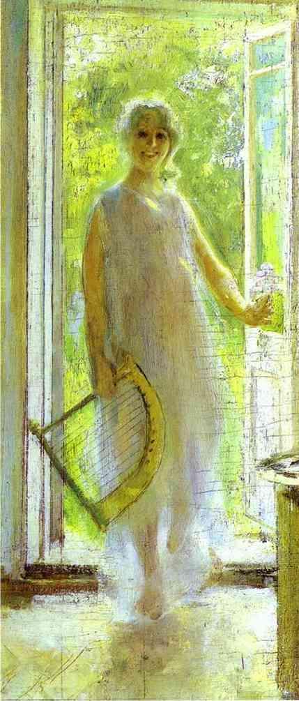 Young Woman on the Threshold - Konstantin Korovin