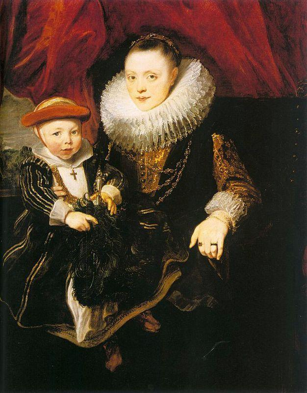 Young Woman with a Child - Anthony van Dyck
