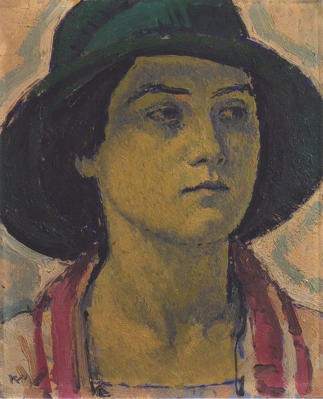 Young woman with hat - Koloman Moser
