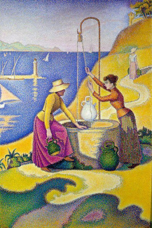 Young Women of Provence at the Well - Paul Signac