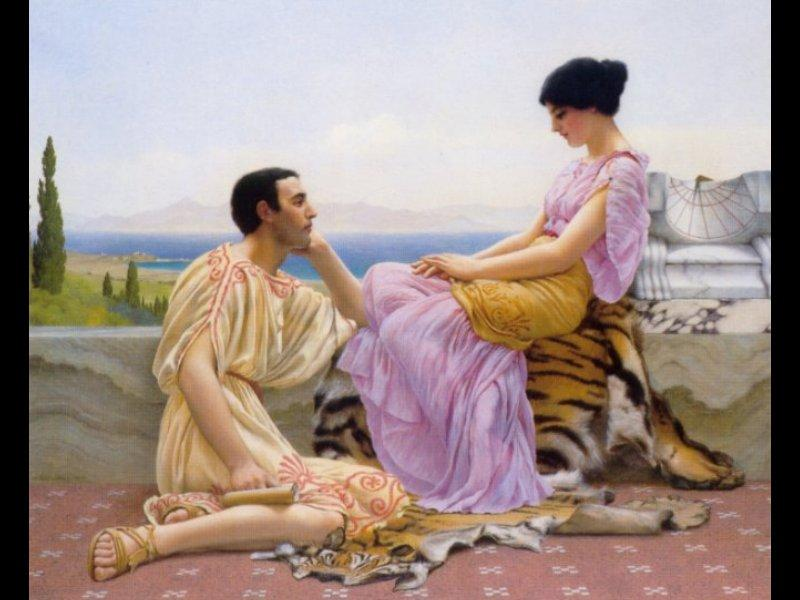 Youth and Time - John William Godward