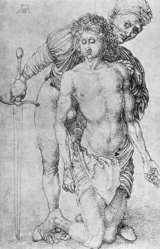 Youth with executioner - Albrecht Durer