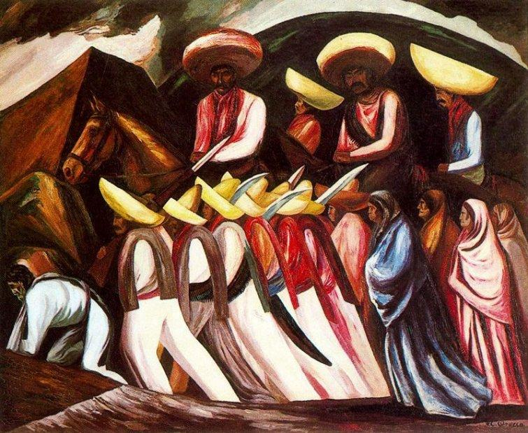 Zapatista's Marching  - Jose Clemente Orozco
