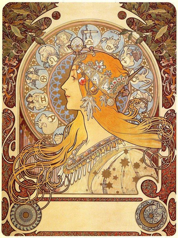 Zodiac - Alphonse Mucha