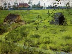A Bit of Holland Meadows (aka A Bit of Green in Holland) – William Merritt Chase