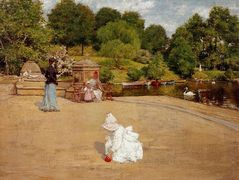A Bit of the Terrace (aka Early Morning Stroll) – William Merritt Chase