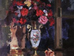 A bouquet of paper roses  – Konstantin Korovin