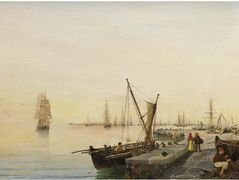 A busy harbour – Konstantinos Volanakis