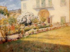 A Florentine Villa — William Merritt Chase