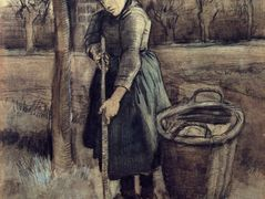 A Girl Raking  — Vincent van Gogh