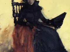A Lady in Black (aka The Red Shawl) – William Merritt Chase