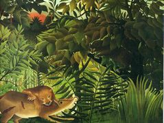 A Lion Devouring its Prey – Henri Rousseau