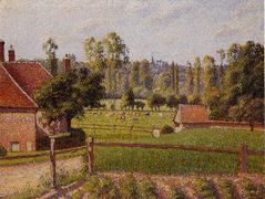 A Meadow in Eragny – Camille Pissarro