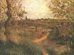 A Path Across the Fields – Camille Pissarro
