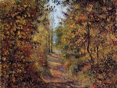 A Path in the Woods, Pontoise – Camille Pissarro