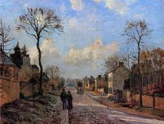 A Road in Louveciennes – Camille Pissarro