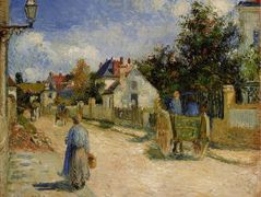 A Street in Pontoise – Camille Pissarro