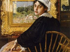 A Study (The Artist's Wife) – William Merritt Chase