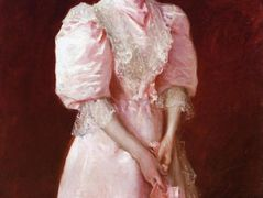 A Study in Pink (Portrait of Mrs. Robert P. McDougal) – William Merritt Chase