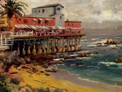A View from Cannery Row, Monterey — Thomas Kinkade
