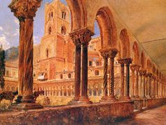 A View Of Monreale, Above Palermo – Rudolf von Alt