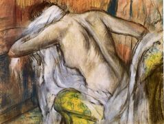 After Bathing, Woman Drying Herself — Edgar Degas