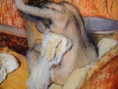 After the Bath (Woman Drying Herself) – Edgar Degas