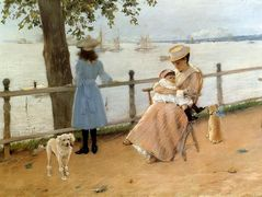 Afternoon by the Sea (aka Gravesend Bay) – William Merritt Chase