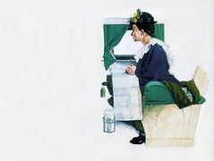 Airplane Trip – Norman Rockwell