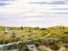 Along the Path at Shinnecock — William Merritt Chase