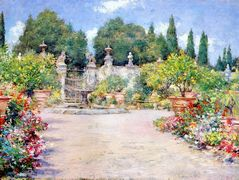 An Italian Garden — William Merritt Chase