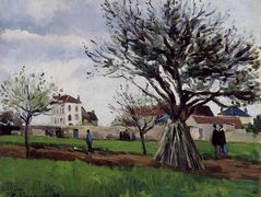 Apple Trees at Pontoise – Camille Pissarro