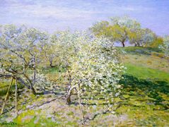 Apple Trees in Bloom – Claude Monet