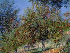 Apple Trees on the Chantemesle Hill — Claude Monet