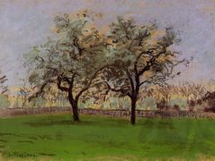 Apples Trees at Pontoise – Camille Pissarro