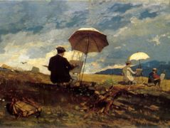 Artists Sketching in the White Mountains – Winslow Homer