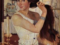 At the dressing table – Zinaida Serebriakova
