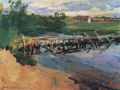 At the pool  – Konstantin Korovin