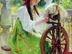 At the Spinning-Wheel – Konstantin Makovsky