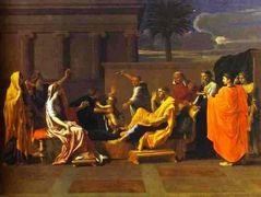 Baby Moses Trampling on the Pharaoh's Crown – Nicolas Poussin