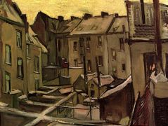 Backyards of Old Houses in Antwerp in the Snow — Vincent van Gogh